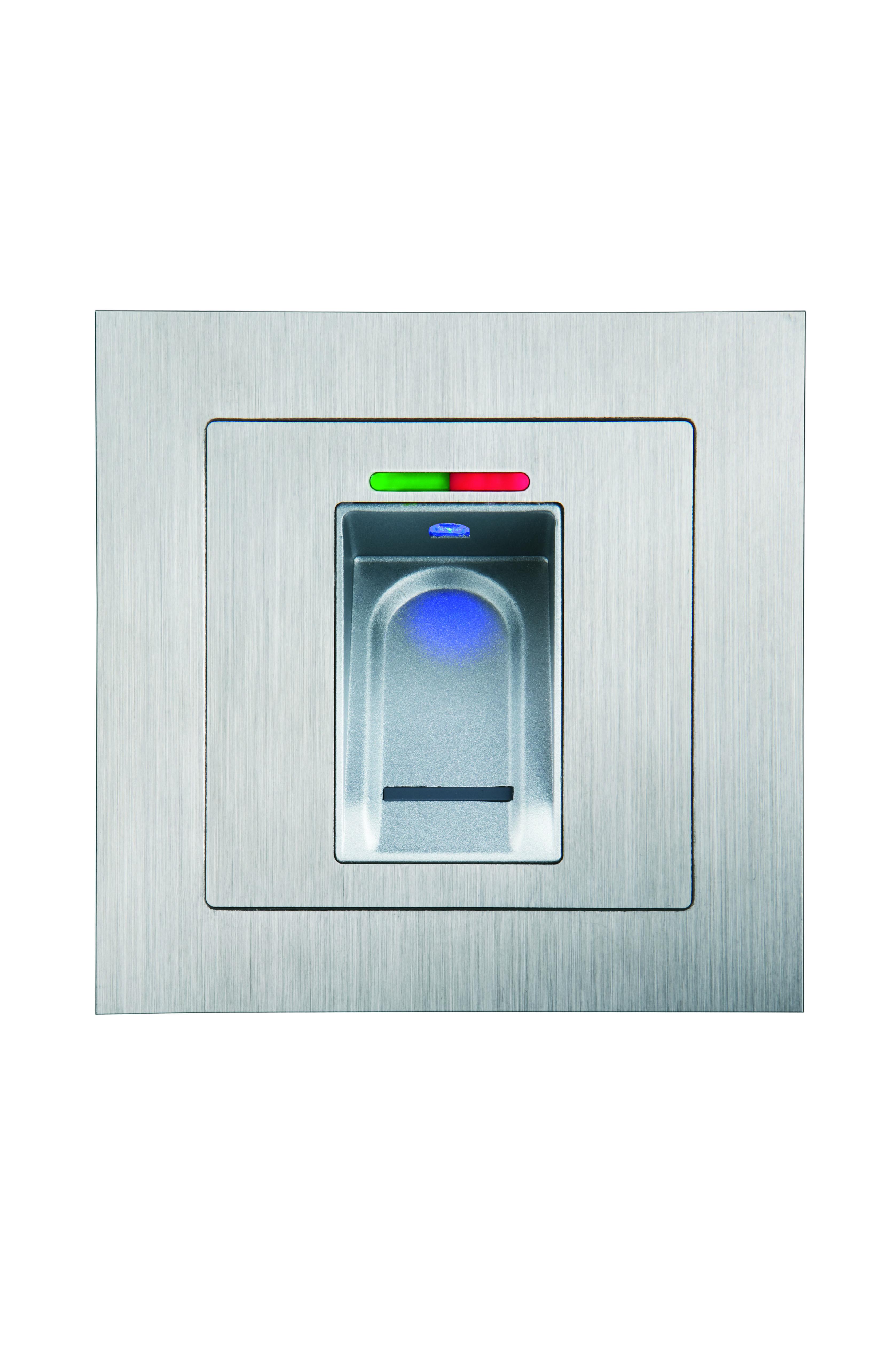 Vingerscanner netwerk RS485 - Inbouw zilver