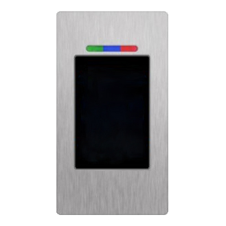 Paslezer RFID BioKey RVS - Inbouw smal RVS